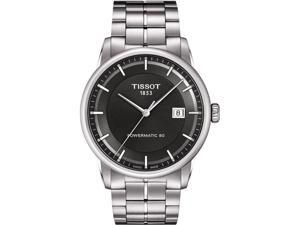 Tissot Luxury Automatic Anthracite Dial Stainless Steel Mens Watch T0864071106100