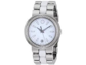 Movado Cerena Stainless Steel Diamond Ladies Watch 0606624