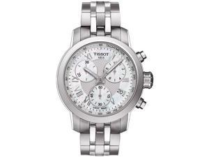 Tissot PRC 200 Chronograph Pearl Dial Steel Ladies Watch T0552171111300