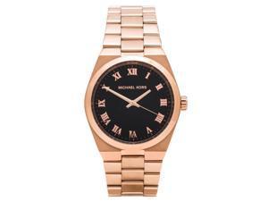 Michael Kors Channing Black Dial Rose Gold-tone Ladies Watch MK5937