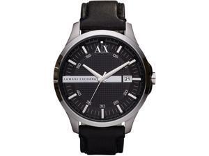 Armani AX2101 AX Exchange Whitman Black Dial Black Leather Men's Watch