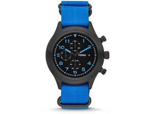 Fossil Compass Nylon Chronograph Mens Watch JR1452
