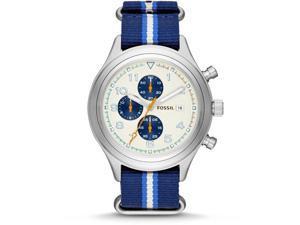 Fossil Compass Nylon Chronograph Mens Watch JR1460