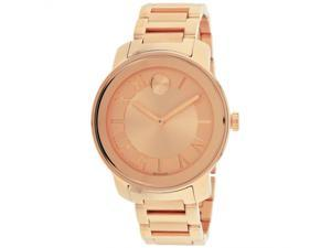 Movado Bold Rose-Tone Unisex Watch 3600199