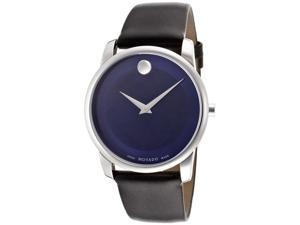 Movado Museum Blue Dial Stainless Steel Mens Watch 0606610
