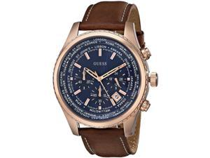 GUESS Leather Chronograph Mens Watch U0500G1