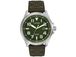 Men's Army Green Citizen Eco-Drive Military Sport Watch AW1410-16X