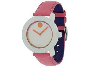 Movado Bold Pink Leather Ladies Watch 3600216