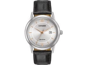Citizen Eco-Drive Leather Mens Watch AW1236-03A
