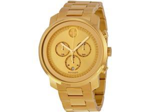 Movado Bold Gold Ion Chronograph Mens Watch 3600278