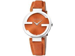 Gucci Interlocking Orange Ladies Watch YA133316