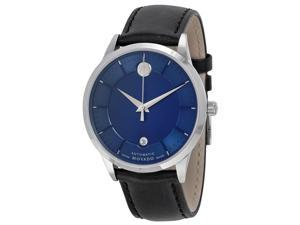 Movado 1881 Automatic Leather Mens Watch 0606874