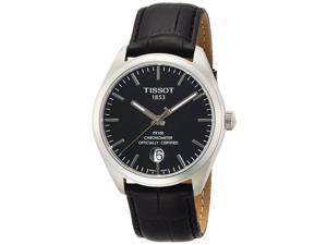 Tissot PR100 COSC Leather Mens Watch T1014511605100