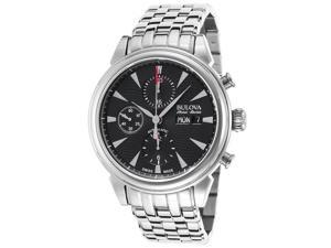 Bulova AccuSwiss Gemini Automatic Chronograph Mens Watch 63C113