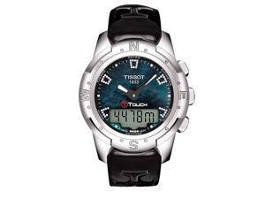 Tissot T-Touch II Diamond Titanium Leather Ladies Watch T0472204612600