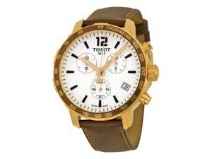 Tissot Quickster Nato Brown Leather Chronograph Ladies Watch T0954173603702