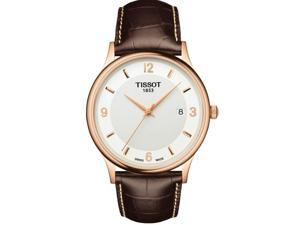 Tissot Rose Dream 18K Gold Leather Mens Watch T9144104601700