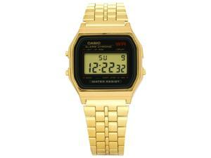 Casio Gold-Tone Alarm Chronograph Mens Watch A159WGEA-1D