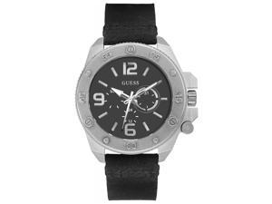 Guess W0659G1 Multifunction Leather Mens Watch