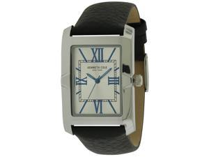 Kenneth Cole 10031341 New York Leather Analog Quartz Mens Watch