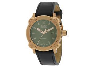 Bulova AccuSwiss Leather Automatic Mens Watch 64B129