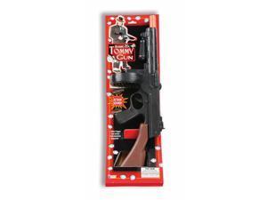 Black Tommy Machine Gun Gangster Roaring 20's Costume Prop