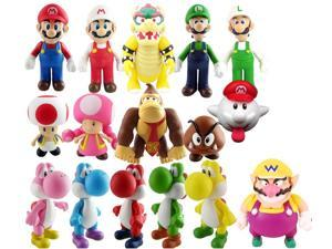Super Mario Bros PVC Figure Collectors Asst B Set of 16 With Wario