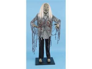 Deluxe 6' Standing Zombie Halloween Prop Decoration