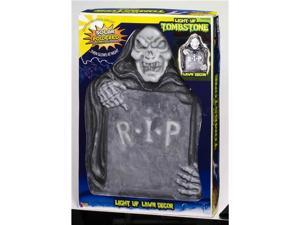Solar Powered Light Up Tombstone Lawn Halloween Prop Decoration