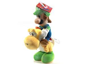 "Super Mario Bros Luigi Riding Yoshi 8"" Plush"