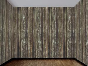 Haunted House Rotted Wood Wall 100 Ft Backdrop Halloween Decoration One Size