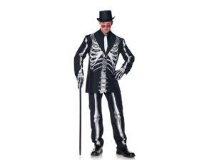 Bone Daddy Formal Skeleton Suit Costume Adult One Size Fits Most
