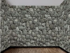 Dungeon Stone Wall 100 Foot Backdrop Halloween Party Decoration One Size