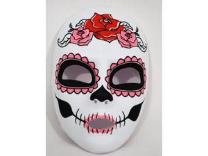 Day Of The Dead Costume Face Mask Adult: Female One Size