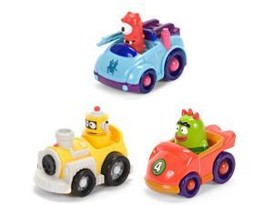 "Yo Gabba Gabba 4"" Figure Vehicle Muno Plex Brobee Set Of 3"