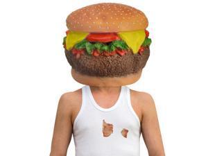 Cheeseburger Head Latex Costume Mask