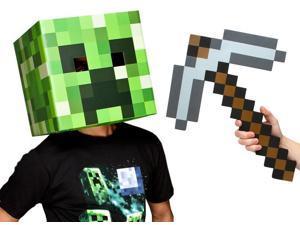"Minecraft 12"" Creeper Head & Pickaxe Costume Kit"