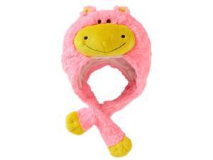 My Pillow Pets Premium Plush Hat Neonz Neon Pink/Yellow Hippo