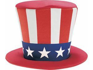 Uncle Sam Foam Top Hat Adult