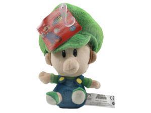 """Super Mario Bros Baby Luigi 5"""" Plush"""