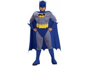 Batman Brave & Bold Deluxe Muscle Chest Batman Costume Toddler 2T-4T
