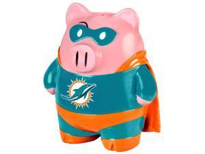 """NFL 8"""" Team Superhero Piggy Bank: Miami Dolphins"""