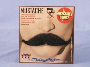 Sophisticated Black Real Human Hair Adult Costume Moustache