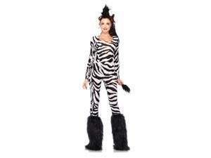 Wild Zebra Catsuit Costume Adult X-Small