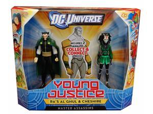 "DCU Young Justice 4"" Figure 2 Pk Assassins Ra's Al Ghul & Chesire"