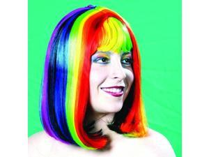 Rainbow Pride Barbara Multi Color Costume Wig