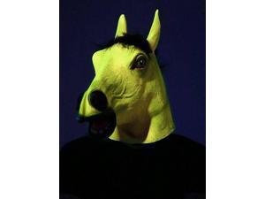 Blacklight Responsive Yellow Horse Adult Costume Mask