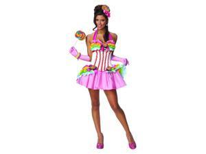 Sexy Rainbow Lollipop Costume Adult Medium 6-10