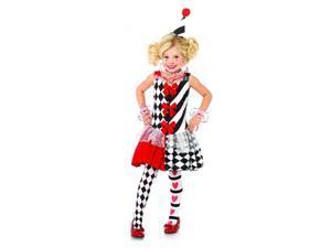 Harlequin Clown Child Costume Large