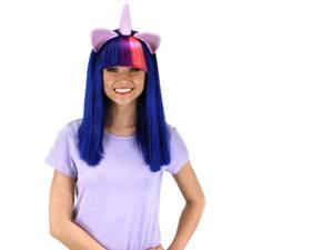 My Little Pony Twilight Sparkle Adult Costume Wig W/Ears & Horn